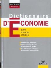 Dictionnaire D'Economie - Intérieur - Format classique
