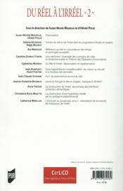 Du réel a l'irréel (2) ; langues, discours et représentations - 4ème de couverture - Format classique