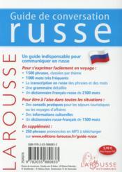 Guide de conversation ; russe - 4ème de couverture - Format classique