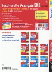 Bescherelle ; français ; CM2 - 4ème de couverture - Format classique