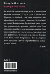 Physique de l'amour - 4ème de couverture - Format classique