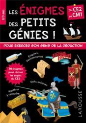 Les énigmes des petits génies ! ; du CE2 au CM1 - Couverture - Format classique