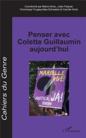 Penser avec Colette Guillaumin aujourd'hui - Couverture - Format classique