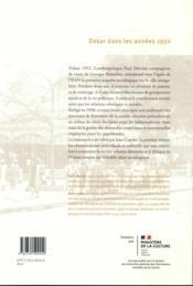 Dakar dans les années 1950 - 4ème de couverture - Format classique