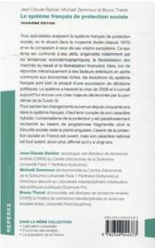 Le système français de protection sociale (3e édition) - 4ème de couverture - Format classique