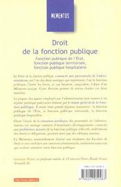 Droit De La Fonction Publique ; 17e Edition - 4ème de couverture - Format classique