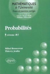Probabilites Niveau M1 Cours Et Exercices Corriges - Intérieur - Format classique