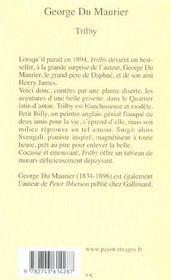 Trilby - 4ème de couverture - Format classique