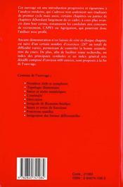 Principes D'Analyse Mathematique - 4ème de couverture - Format classique