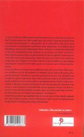 Colonisation, loi et l histoire - 4ème de couverture - Format classique