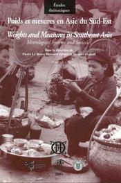 Poids et mesures en Asie du sud-est ; systèmes métrologiques et société t.1 ; l'ase austronesienne - Intérieur - Format classique