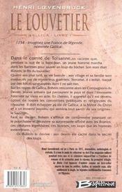 Gallica t.1 ; le louvetier - 4ème de couverture - Format classique