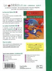 Le bibliobus T.30 ; CE2 ; contes du Maghreb ; cahier d'activités - 4ème de couverture - Format classique