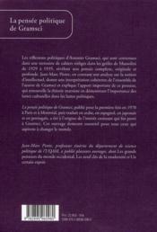 La pensée politique de Gramsci - 4ème de couverture - Format classique