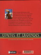 Contes et légendes d'Afrique d'Ouest en Est - 4ème de couverture - Format classique