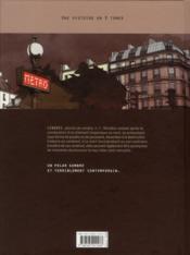 Metropolitan t.3 ; cendres - 4ème de couverture - Format classique