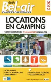 Guide bel-air ; locations en camping 2012 - Couverture - Format classique