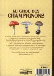 Le guide des champignons - 4ème de couverture - Format classique