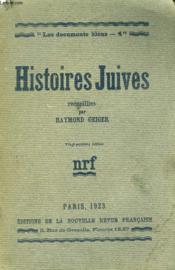 Histoires Juives. Collection : Les Documents Bleus N° 4 - Couverture - Format classique