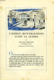 L'Esprit Montmartrois, Interviews Et Souvenirs (Incomplet) - Couverture - Format classique