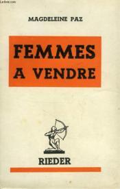 Femmes A Vendre - Couverture - Format classique