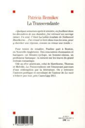 La transcendante - 4ème de couverture - Format classique
