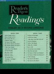 Readings - English An A Second Language - Couverture - Format classique