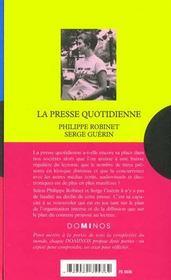 La Presse Quotidienne - 4ème de couverture - Format classique