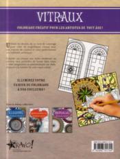 Coloriage créatif ; vitraux - 4ème de couverture - Format classique