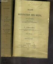 Traite De La Distinction Des Biens De La Propriete De L'Usufruit De L'Usage Et De L'Habitation / En Deux Tomes / Tomes 1 + 2 / 4e Edition. - Couverture - Format classique