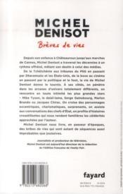 Brèves de vies - 4ème de couverture - Format classique