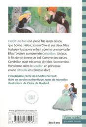 Cendrillon ou la petite pantoufle de verre - 4ème de couverture - Format classique