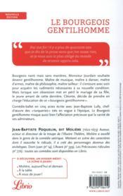 Le bourgeois gentilhomme - 4ème de couverture - Format classique