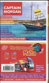 GUIDE PETIT FUTE ; COUNTRY GUIDE ; Malte (édition 2016) - 4ème de couverture - Format classique