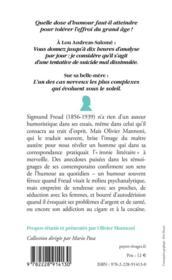 Les sautes d'humour du docteur Freud - 4ème de couverture - Format classique
