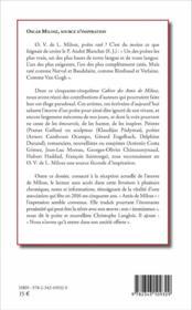 CAHIERS DE L'ASSOCIATION T.55 ; les amis de Milosz - 4ème de couverture - Format classique