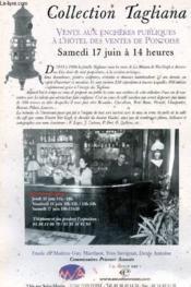 Catalogue de vente aux enchères : 17 juin - Hôtel des ventes de Pontoise : Collection Tagliana - Couverture - Format classique
