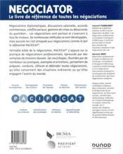 Negociator ; la référence de toutes les négociations - 4ème de couverture - Format classique