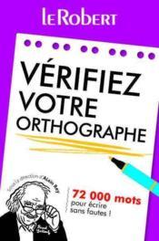Vérifiez votre orthographe - Couverture - Format classique
