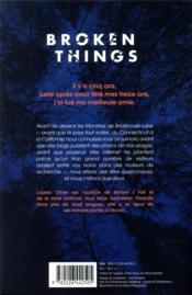 Broken things - 4ème de couverture - Format classique