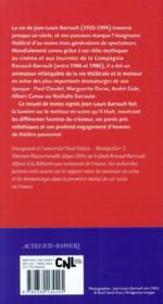 Jean-Louis Barrault - 4ème de couverture - Format classique