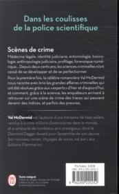 Scènes de crime - 4ème de couverture - Format classique