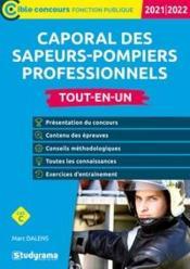 Caporal des sapeurs-pompiers professionnels (édition 2021/2022) - Couverture - Format classique