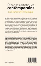 Échanges artistiques contemporains ; la France et le Mexique - 4ème de couverture - Format classique