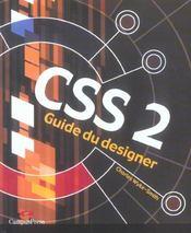 Css 2, guide du designer - Intérieur - Format classique