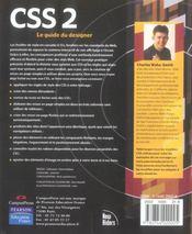 Css 2, guide du designer - 4ème de couverture - Format classique