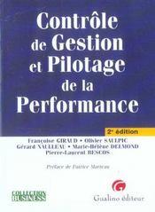 Contrôle de gestion et pilotage de la performance - Intérieur - Format classique