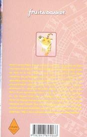 Fruits basket t.10 - 4ème de couverture - Format classique