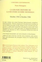 Seconde guerre mondiale t2 - 4ème de couverture - Format classique