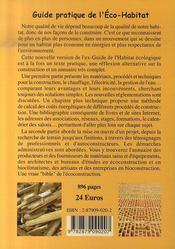Guide pratique de l'éco-habitat (édition 2007) - 4ème de couverture - Format classique